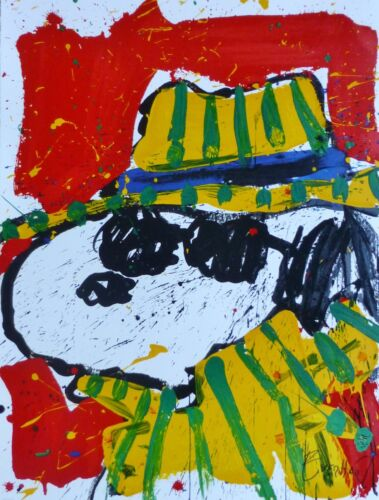 TOM EVERHART It's The Hat That Makes The Dude Snoopy PEANUTS  Hand signed
