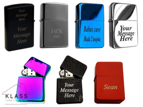 NEW WINDPROOF METAL LIGHTER FREE CUSTOMISED ENGRAVING PERSONALISED MESSAGE GIFT <br/> IDEAL FOR CHRISTMAS,WEDDING DAY, BIRTHDAY, FATHER GIFT