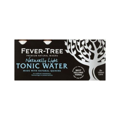Fever-Tree Naturally Light Tonic Water Cans 8 x 150ml