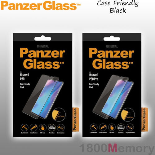 GENUINE PanzerGlass Tempered Glass Screen Protector for Huawei Phones Black