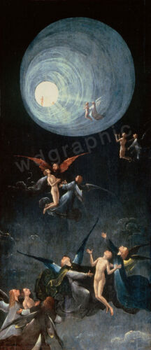 Vintage Ascent of the Blessed, 1940 Hieronymus Bosch Giclee Canvas Print 18x40