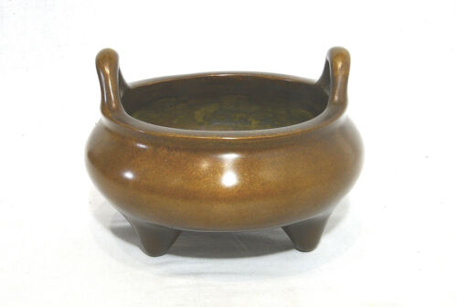 Chinese  Tripod  Bronze  Incense  Burner  With  Mark   3