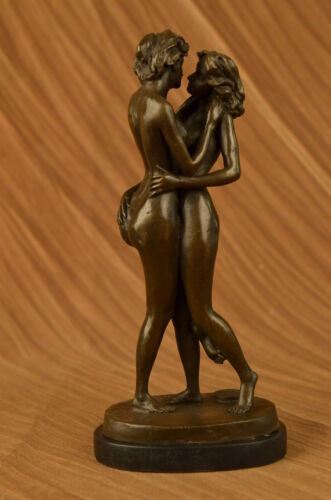Handcrafted bronze sculpture SALE Lover Lesbian Two Edition Collector Signed