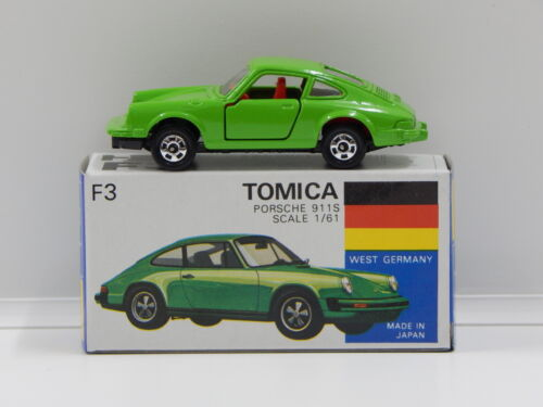 1:61 Porsche 911S (Green) - Made in Japan Tomica F3