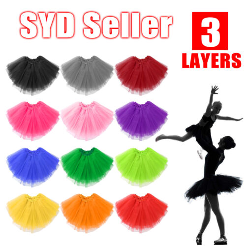 Women Adults Girls Tutu Skirt Princess Dressup Party Costume Ballet Dancewear <br/> ⚠️Buy 5 GET 10% Off  ⚠️LOW PRICES⚠️Fast Post From SYD⚠️