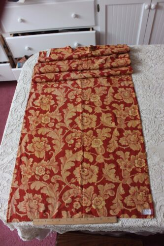 """Antique French Floral & Leaf Hand Block & Resist Dyed Fabric c1830-40~66""""X21"""""""