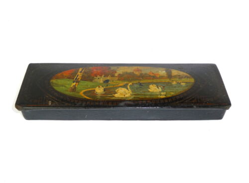 Lacquer box Pencil box Tin France Switzerland um 1890