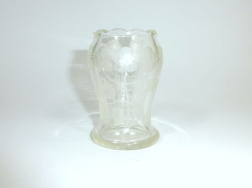 Unusual Vase IN Art By Moser about 1900 Complex Deep Cut