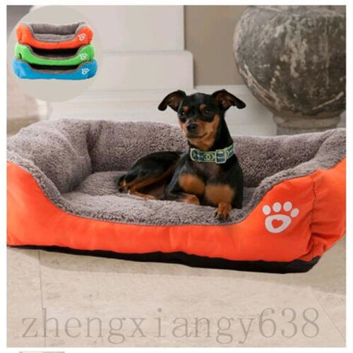 Pet Dog Cat Cage Kennel Crate Pad Warm Cozy Soft Large House Bed Cushion Mat