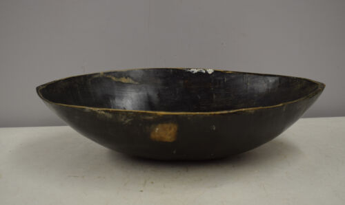 Papua New Guinea Feasting Ceremonial Bowl Lower Ramu Oval Wood Hand Carved