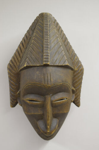 African Mask Senufo Cote d'Ivoire Wood Mask Kpelie Unity Beauty Hand Carved