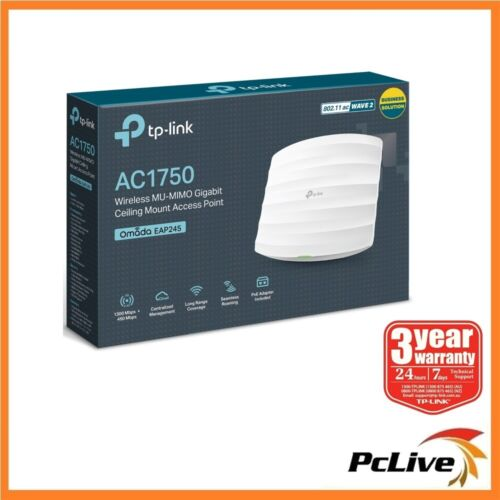 TP-Link EAP245 AC1750 Wireless Dual Band Gigabit Ceiling Mount Access Point WIFI
