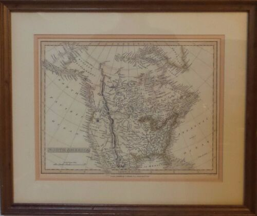 INCREDIBLE ANTIQUE MAP OF NORTH AMERICA - C. SMITH 1816