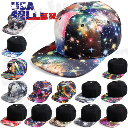 Galaxy Baseball Cap Snapback Caps Adjustable Flat Hat Hip Hop Hat Mens Women New