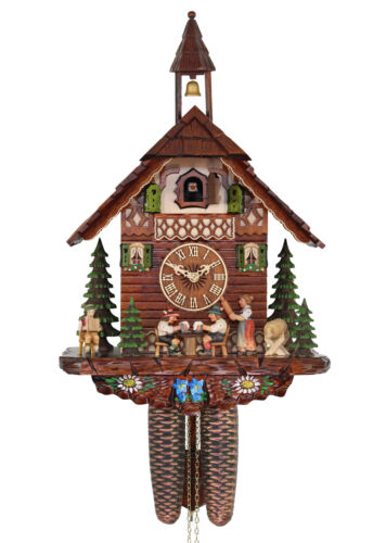 Adolf Herr Cuckoo Clock - The Tipsy Brothers AH 314/12 8T NEW