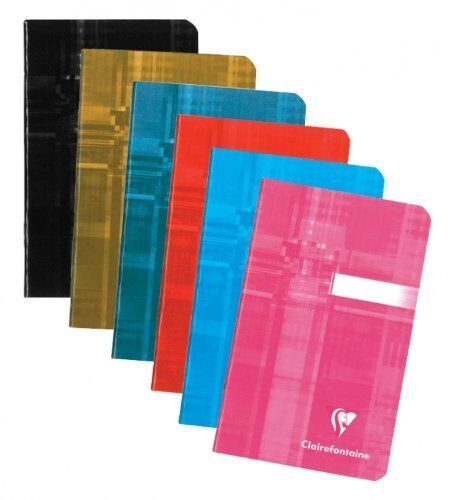 Clairefontaine Staplebound 3.5X5.5 Ruled Set of 3 Notebooks - New