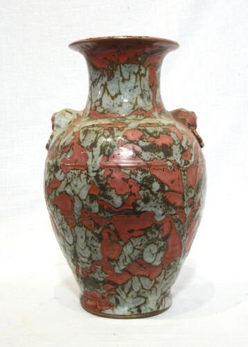 Chinese  Brown  and  Gray  Glaze  Porcelain  Vase