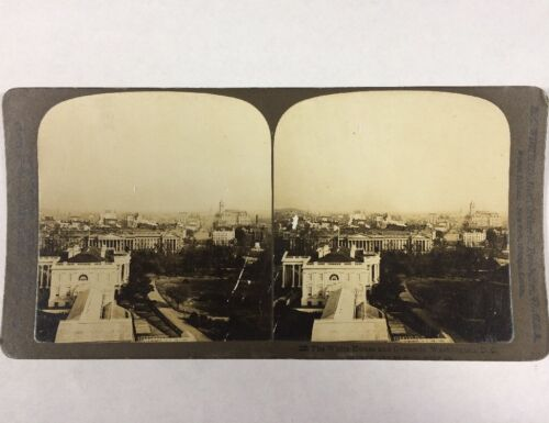 The White House and Grounds, Washington DC Stereoview Circa 1903 H.C. White CO
