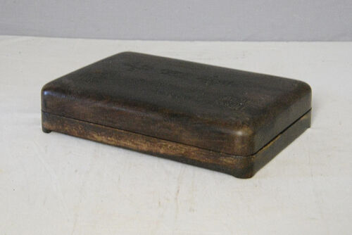 Chinese  Blace  Ink  Stone  With  Wood  Box     M2122