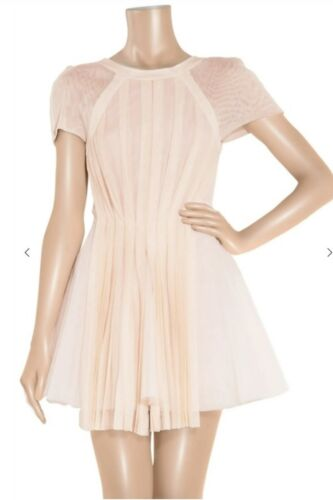 DION LEE DESIGNER - PLEATED SILK-TULLE DRESS - SIZE 10 <br/> Dion Lee pleated dress, blush silk-tulle.