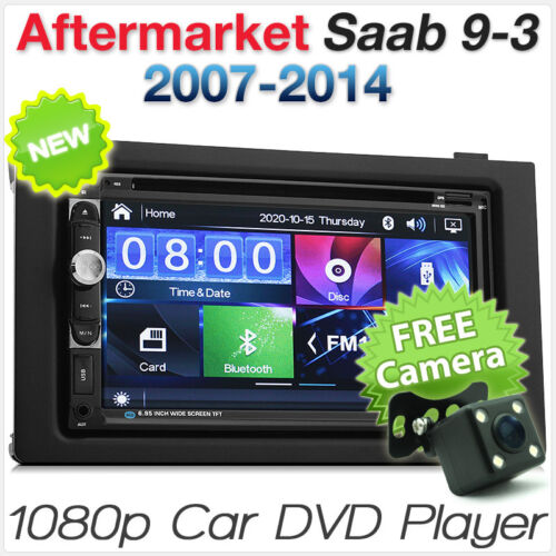 Saab 9-3 93 Car DVD Player Stereo Radio MP3 Head Unit USB Fascia Facia ISO Kit