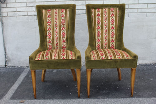 Lovely Pair of Italian Side, End, Fire Side Chairs, c. 1950