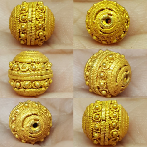 Antique Lovely 23k Solid Gold Beautiful BEAD 12 mm #Q