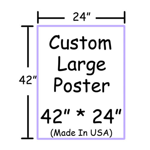 "Poster Print Custom Photos 42"" x 24"" Large Wall Poster Print Anime"