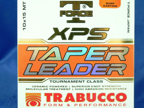 Monofilo Trabucco XPS Tapered Leader 10pzx15mt surf casting beach legering
