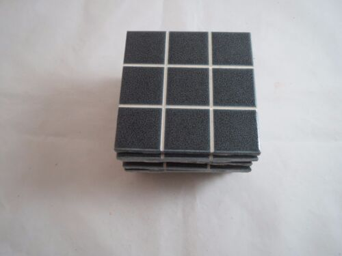 Lot/12 vintage 1950's black bathroom tile 4.25""