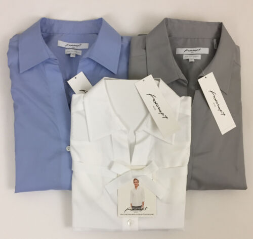 New Foxcroft Women's Non Iron Pinpoint Oxford Shirt Button Front Variety