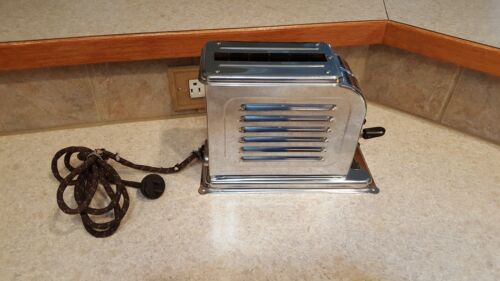 Vintage Model 1A1 1926 Single Slice Chrome TOASTMASTER 1st ever toaster GREAT