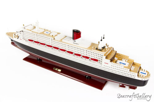 NEW QUEEN MARY 2 Wooden Model Boat Cruise Ship 80cm Great Gift