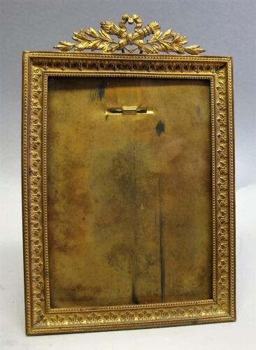 "Very Fine 19th C. FRENCH GILT BRONZE Picture Frame  7"" x 5""  c. 1890   antique"