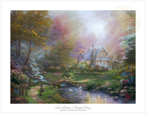 """Thomas Kinkade A Mother's Perfect Day 18 x 24""""S/N Limited Edition Paper"""