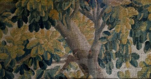 18th century French Aubusson Verdure Tapestry 1700's  LOT of 5 pieces