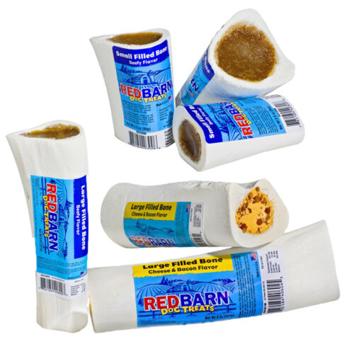 """Redbarn Filled Bone Assorted Flavor n Sizes from 3"""" to 6"""" (Free Shipping in USA)"""