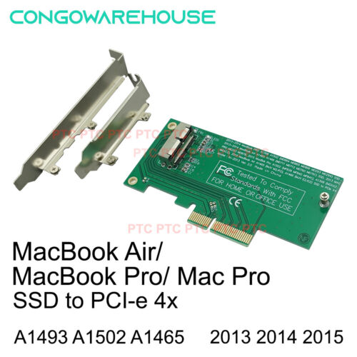 Apple MacBook Air/ Pro 16+12 SSD to PCIE PCI-e Converter Adapter Card 2013 2014