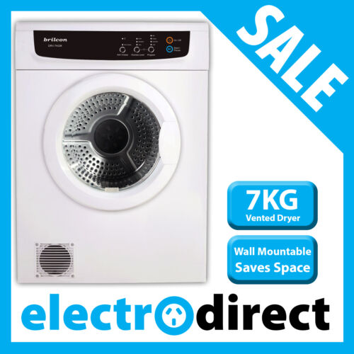 Brand New Brilcon 7KG Vented Dryer 8 Program with Wall Mount Kit Tumble Clothes <br/> Automatic Sensor Technology