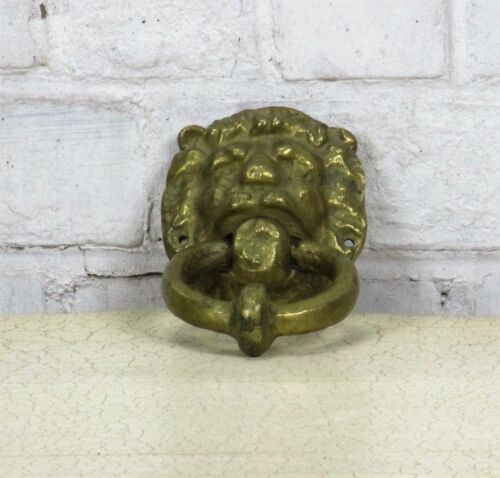 Vintage Heavy Brass Door Knocker Lions Head Architectural Reclaimed 6.69""