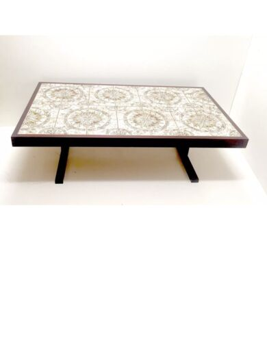 Mid Century Modern Danish Modern Rosewood coffee table tile vintage retro