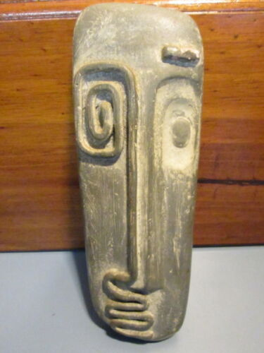 Abstract Face Wall Hanging Plaque Art Pottery Attributed To Frederick Weinberg