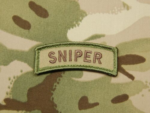 SNIPER Tab Patch Multicam US Army Embroidered Patch Afghanistan VELCRO® Brand  Army - 48824