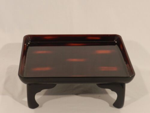 Tortoise Shell Pattern Lacquer Japanese Table Tray