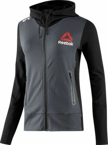 New Women's REEBOK UFC FIGHT KIT CHAMPION WALKOUT HOODIE - AZ9093 - MSRP $100