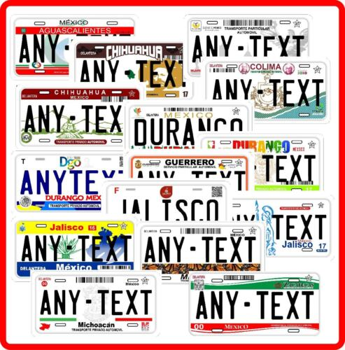 Placas de mexico Personalized Any States of Mexico Novelty Auto License Plate