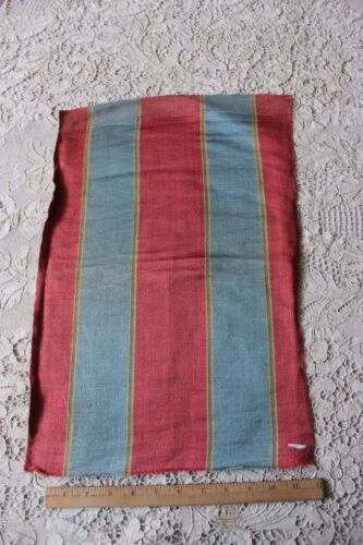 """Lovely French 18thC Silk Home Dec Woven Stripe Fabric~19""""L X 12 1/2""""W"""