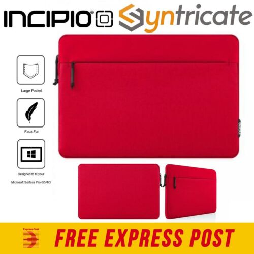 Incipio Truman Protective Padded Sleeve For Microsoft Surface Pro 7/6/5 - Red