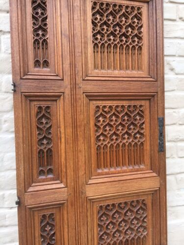 Stunning BIG SIZE Neo Gothic ChurchDoor panel in oak /Absolute top Quality !!!!