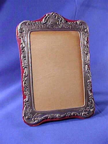 Antique sterling silver repousse photo picture frame ca. 1900-1910 BEAUTIFUL